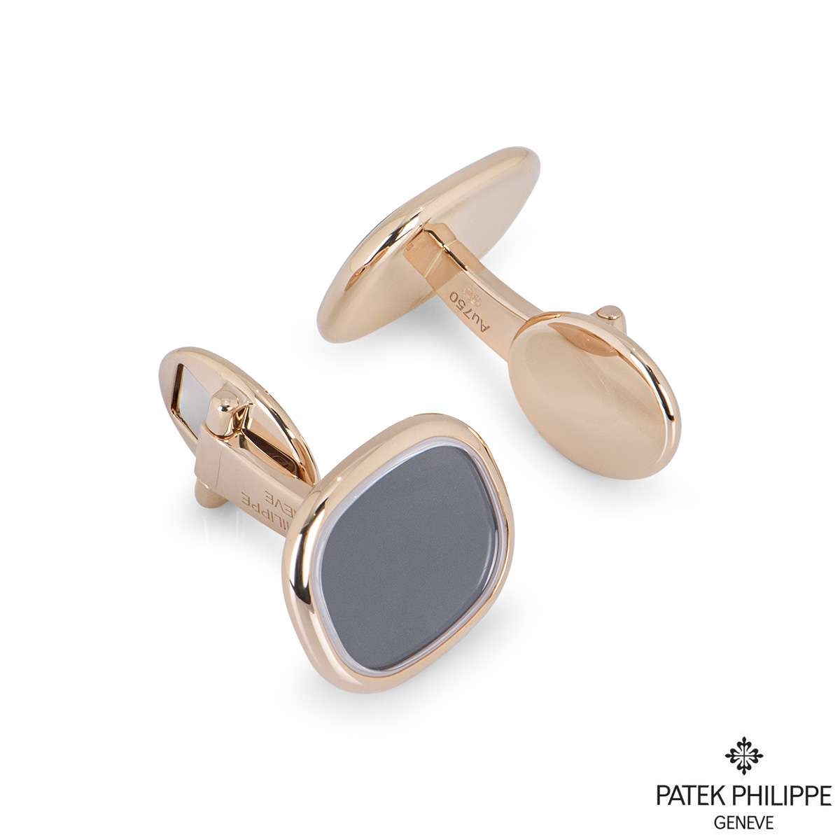 Patek Phillipe Rose Gold Ellipse Cufflinks 205.9102R5-010